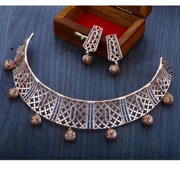 750 designer rose gold  necklace set  RN18