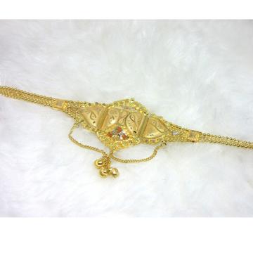 Gold 22k hm916 plain carving lokit (bajubandh)