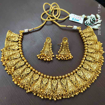 Gold plated necklace set#dcns070