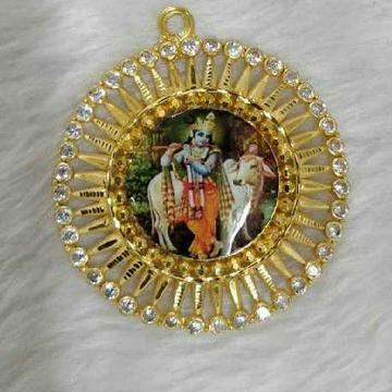 22KT Gold Religious Krishna Photo Pendant