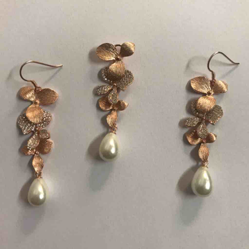 pearl drop pendant set