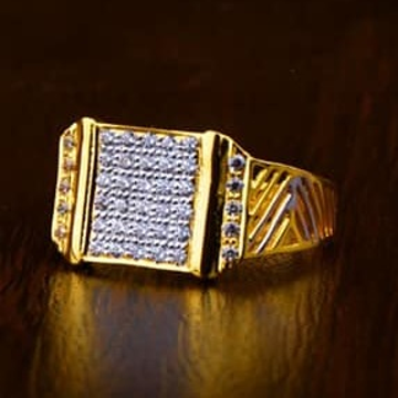 916 Gold Gents Ring 0011