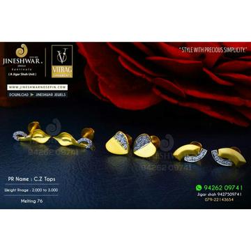 18kt Fancy Official Were Cz Gold Ladies Tops ATG -0444