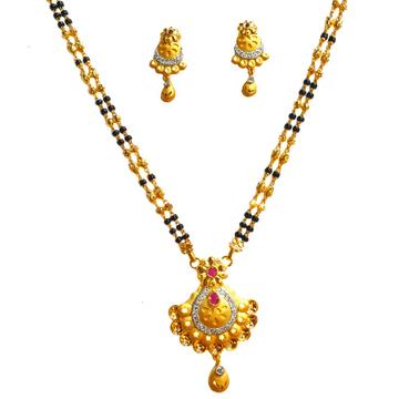 One Gram Gold Forming Designer Mangalsutra MGA - MSE0449