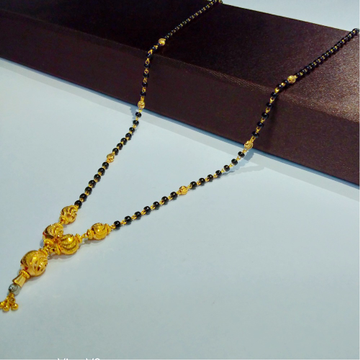 916 gold vertical mangalsutra