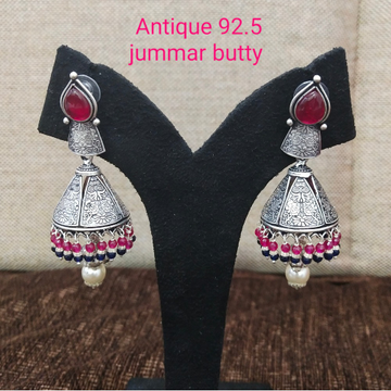 925 silver antique pink stone earring sl-e002