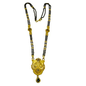 916 Two line mangalsutra with antique pendent