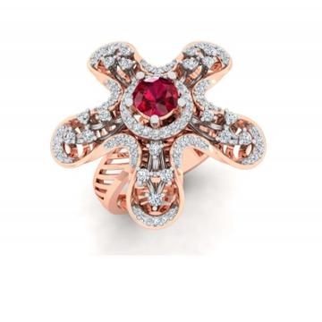 18k rose gold star shape ring pj-r003