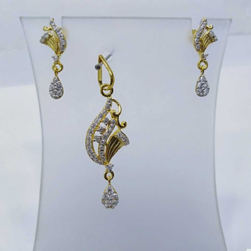 840 gold fancy light weight pendant set rj-ps004 by