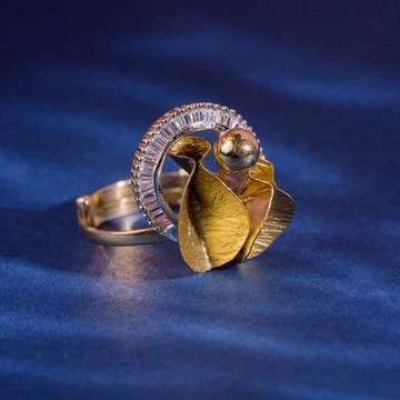916 Gold Spra Dull Ladies Ring RH-SLR046