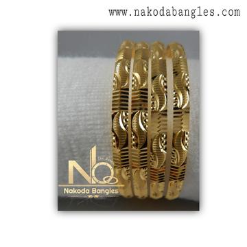 916 Gold CNC Bangles NB - 1374