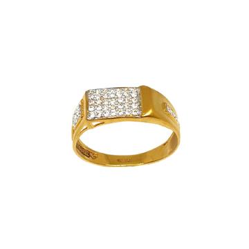 22K Gold Matte Finish Gents Ring MGA - GRG0204