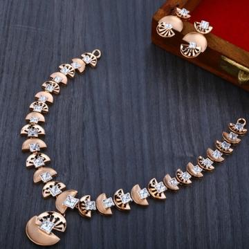 18 carat rose gold exclusive women's necklace set RH-NS567
