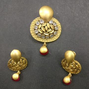 916 Gold Designer Pendant Set BJ-PS001 by