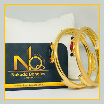 916 Gold Pipe Bangles NB - 530