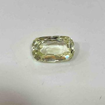 5.50ct cushion yellow yellow-sapphire-pukhraj by