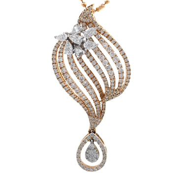 Mooi Diamond Pendant in Rose Gold 7SHP14