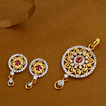 22Kt Gold Hallmark Designer Ladies Pendant Set FSP54