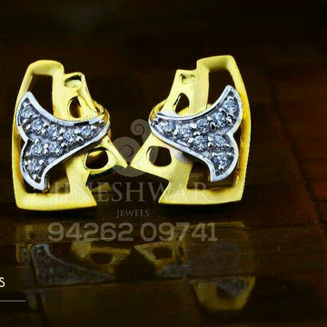 18kt Designer Fancy Cz Gold Ladies Tops ATG -0197