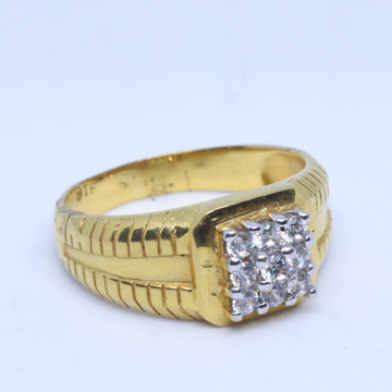22KT / 916 Gold CZ white stone Wedding Special ring for men GRG0005
