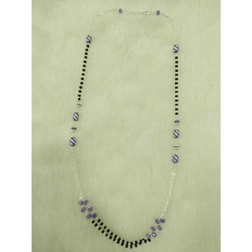 92.5 Sterling Silver Black & Purple Pearl Motiya Mangalsutra Ms-2965