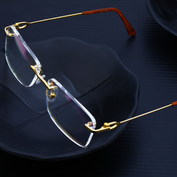 Gold Mens Cz Spectacles-S11