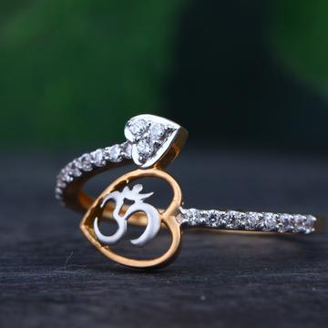 18K Rose Gold Om Design Rings RHJ-69