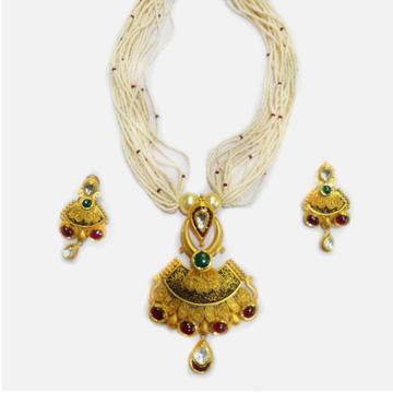 916 Gold Antique Bridal Necklace Set RHJ-4394
