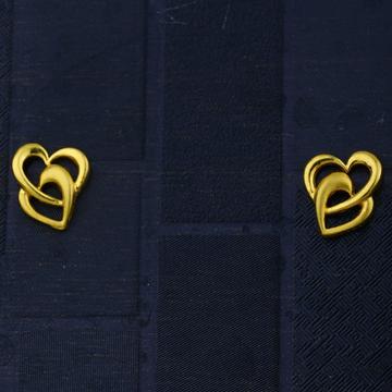 916 gold  hallmark double heart earring