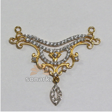 american Diamond 916 Gold Mangalsutra Pendants