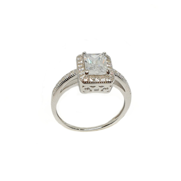 925 Sterling Silver Square Shaped Designer Ring MGA - LRS3477