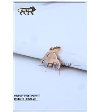 18 Carat Italian pendent rose gold car shape ipg0098