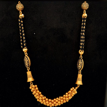 22kt stylish antique mangalsutra Dokiya