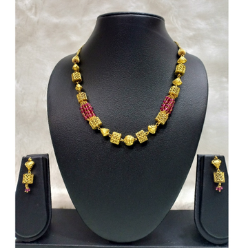 916 gold antique red Pearl mala