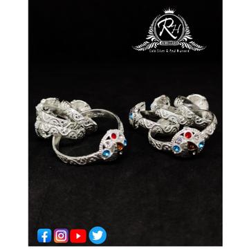 silver ladies toe rings set RH-TR458