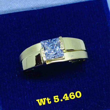 Solitaire Gents Ring by Kanishq Jewels