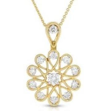 22kt, 916 hm, yellow gold Flower unique style pendant jkp009