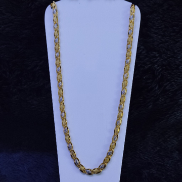 22KT/916 Yellow Gold Aanantha Hollow Chain For Men