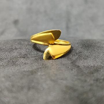 22K Women's Designer Outwear Plain Gold Ring-22003