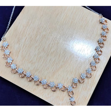 925 real hallmarked silver rosegold rhodium necklace by puran