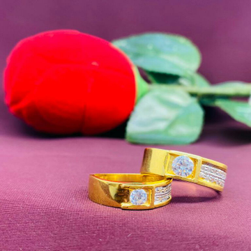 22kt gold couple ring by