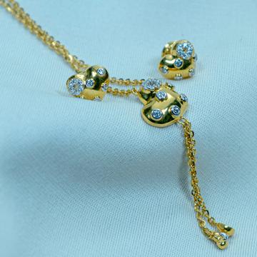gold Heart Design necklace Set DK1-39 by
