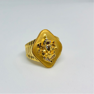 22KT Gold Ganesh Ring For Men KDJ-R003