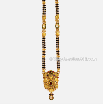 22K Gold Atractive Beads Mangalsutra by