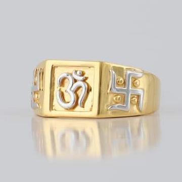 22 Carat gold gents fency ring RH_vt108