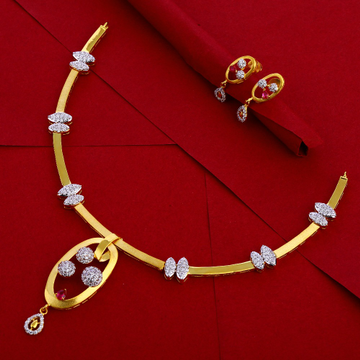 916 Gold Ladies exclusive Necklace Set LN258