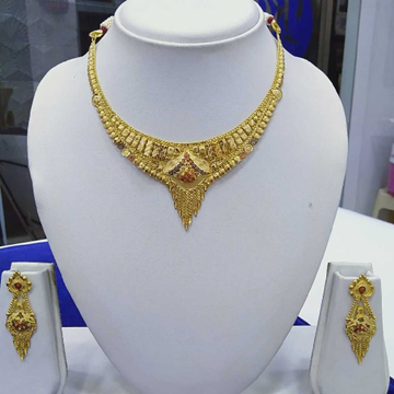 916 Gold Necklace Set RJ-N008 by