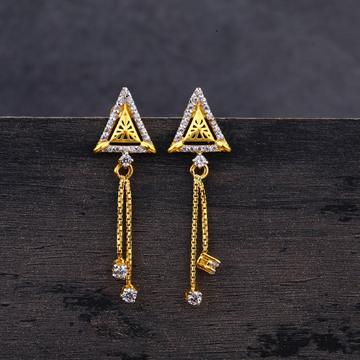 22CT Gold Hallmark Stylish Jhummar Earring LJE217