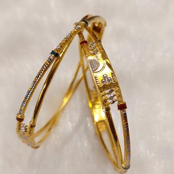 Gold copper kadli by