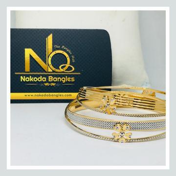 916 Gold CNC Bangles NB - 717